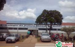Inauguração do colegio militar recém implantado no municipio.