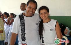 Mestre Suíno do Grupo Candeias ministrou um aulão com direito a cobertura exclusiva do tudoin no último sábado no clube campestre de Inhumas