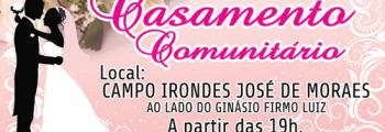 Promoção Social realizará o Casamento Comunitário.