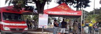 CAMPANHA DO CBMGO CADASTRA 356 DOADORES DE MEDULA ÓSSEA EM INHUMAS