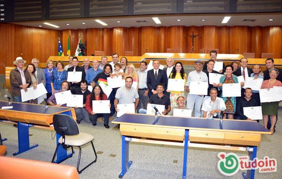 Homenagem aos artistas goianienses na Câmara de Vereadores de Goiânia - Fotos por Mauro