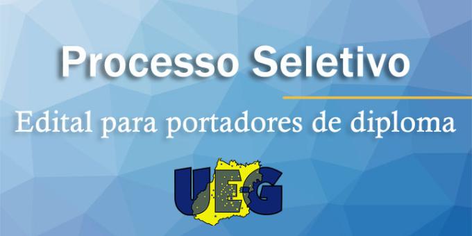 UEG abre inscri��o para portadores de diploma