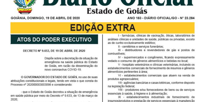Governo de Goiás lança novo decreto com novas regras para o comércio e outras atividades