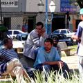 Caos urbano na praça central de Inhumas