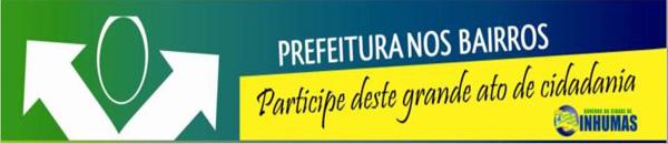 Convite: 5ª edição do Programa Prefeitura nos Bairros