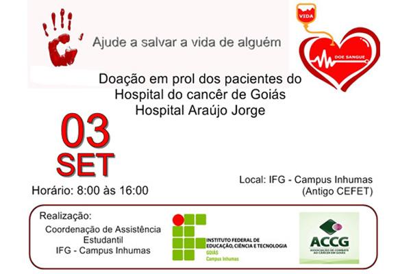 Campus Inhumas organiza campanha de doação de sangue