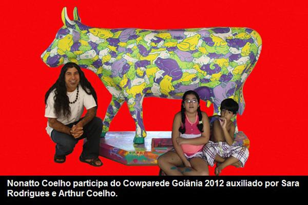 Nonatto Coelho participa do Cowparade em Goiânia