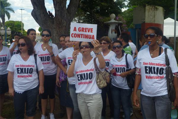 Professores de Inhumas promovem 2ª Manifestação pela Educação