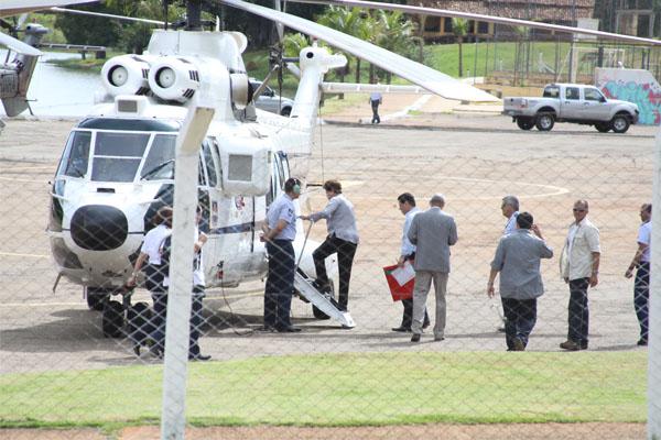 Dilma visita obras de ferrovia em Goiás