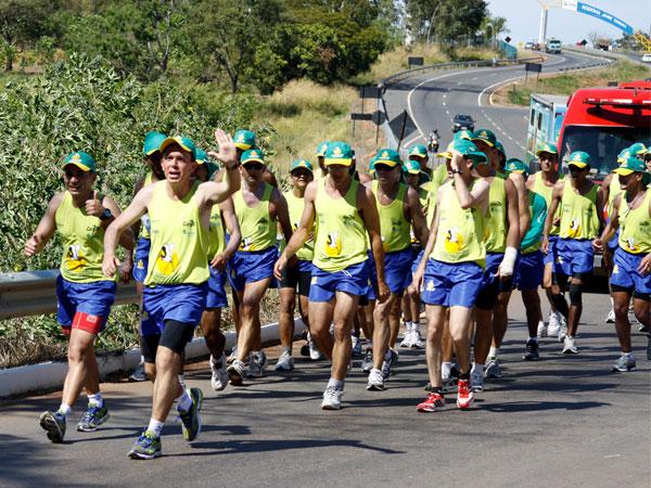 Recepção em Inhumas da XXI Maratona Ecológica