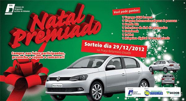 Promoção Natal Premiado CDL 2012