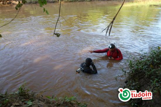 Registrado pela 9ª CIBM de Inhumas o desaparecimento de dois jovens no rio Meia Ponte
