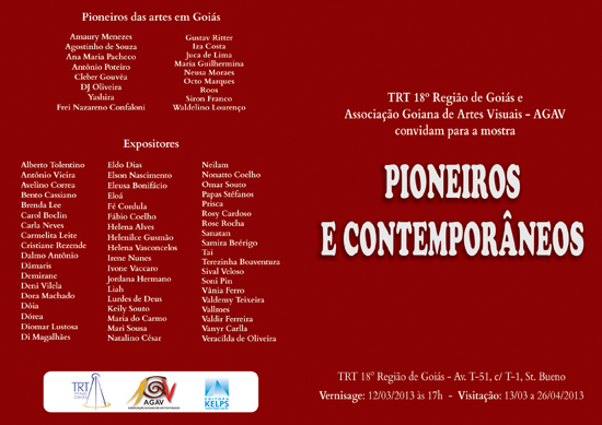 Exposição Pioneiros e Contemporâneos