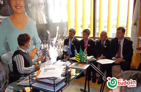 Reunião com Deputada Federal Iris de Araújo e Dioji Ikeda