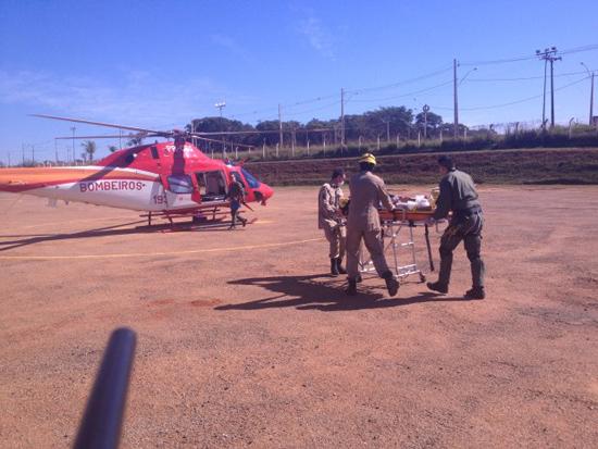 Bombeiros de Inhumas e Helicóptero Bombeiro 01 atuam em ocorrência na GO-070