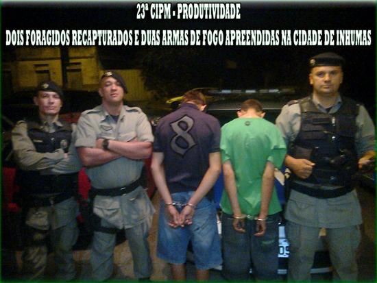 Foragidos recapturados e armas de fogo apreendidas