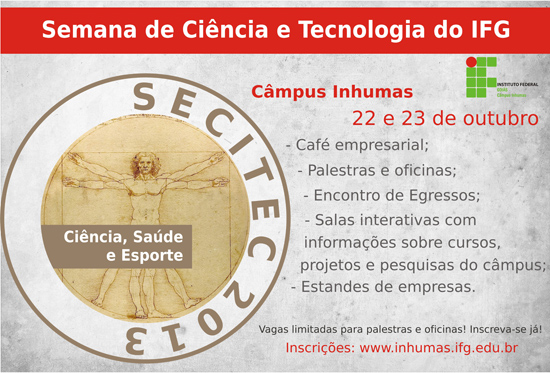 II Semana de Ciência e Tecnologia do IFG - Câmpus Inhumas