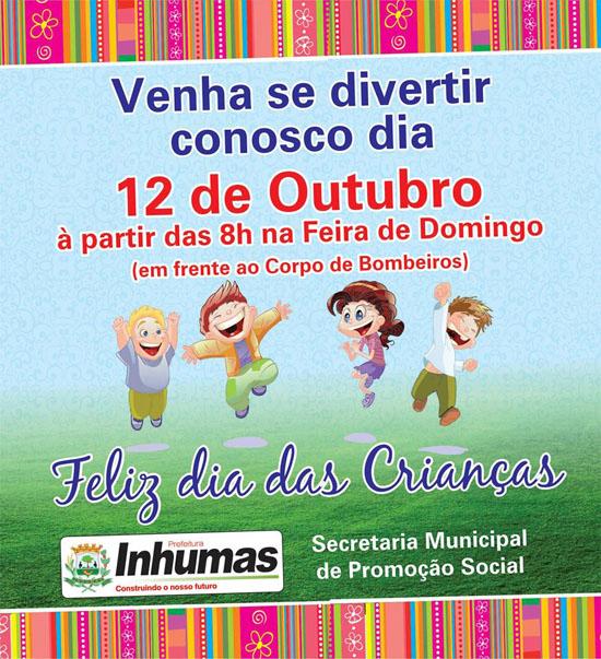 Festa em comemoração ao Dia das Crianças - Prefeitura de Inhumas