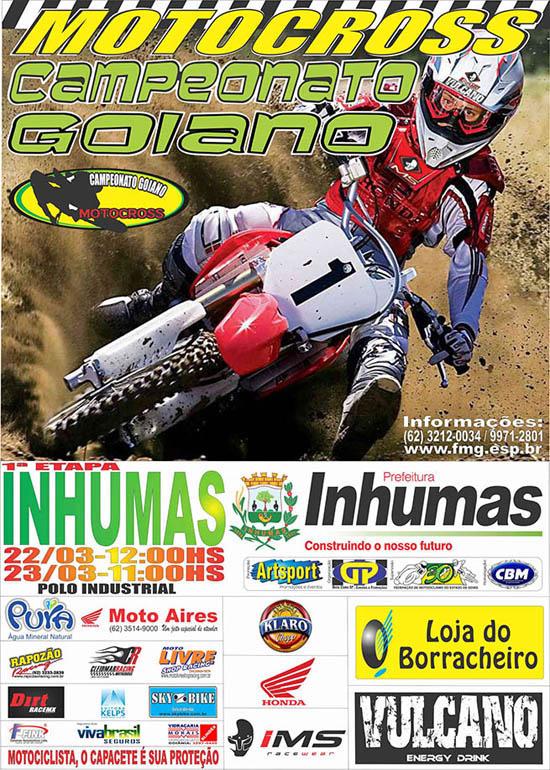 Inhumas pela primeira abrirá o Campeonato Goiano de Motocross