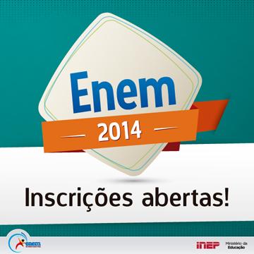 MEC abre as inscrições para o Enem 2014
