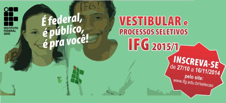 Inscrições para vestibular do IFG já estão abertas!