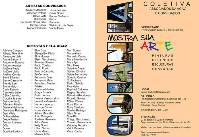 Goiânia Mostra Sua Arte - convite para evento cultural em Goiânia
