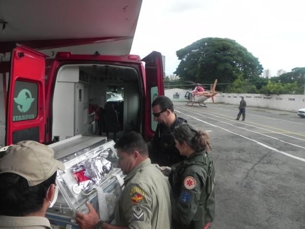 Helicóptero Bombeiro resgata recém-nascido em Inhumas