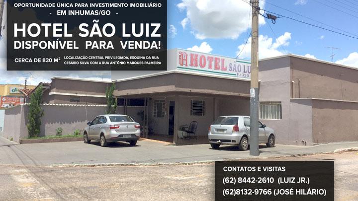 Hotel São Luiz está a VENDA em Inhumas