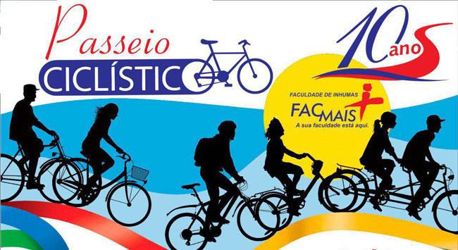 FacMais celebra 10 anos e realiza seu primeiro Passeio Ciclístico