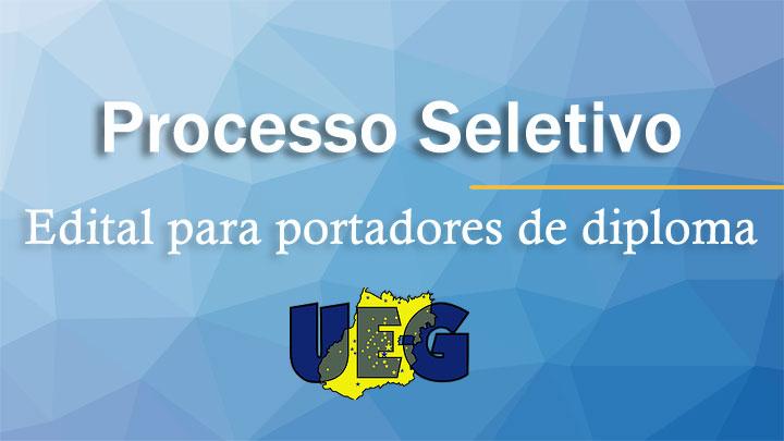 UEG abre inscrição para portadores de diploma
