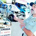 Exposição alerta para riscos de acidentes