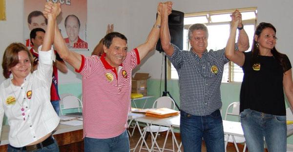 Dr. João Antônio Ferreira (para prefeito) e João Renato (vice-prefeito)
